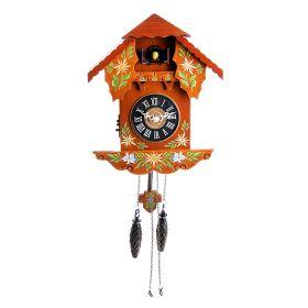 Часы настенные с кукушкой дерево, Росписные с наличниками