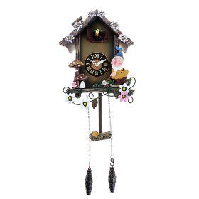 Часы настенные с кукушкой дерево, Гномики и грибочки