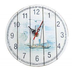 Часы настенные круг, с Корабликом