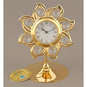 Часы Солнце с хрусталиками сваровски