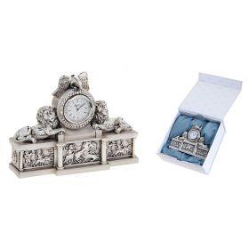 """Часы настольные с покрытием под серебро """"Львиное Царство"""", малые"""