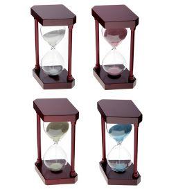 Часы песочные 5 минут Колона на 2 ножках Ромб 16см микс