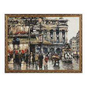 Картина гобелен Париж дождливый 70х50
