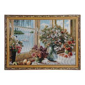 """Картина в рамке """"Лебеди за окном"""" 45*62 см  Н247"""
