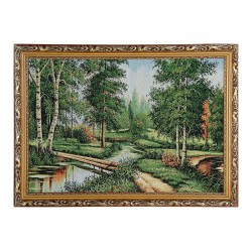 "Картина гобелен ""Лесной мосток""  45*62 см  F319"