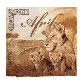 Чехол на подушку  Африка, львы 50*50