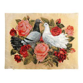 Чехол на подушку  Голуби и розы 50*70